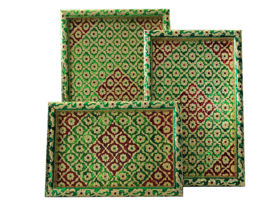 Meenakari Artwork Trays