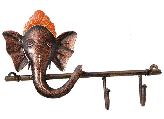 Metal Ganesha Wall Mount Key Holder Online