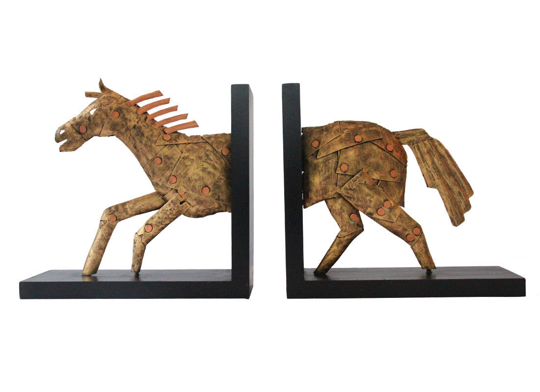 Metal Horse Book Ends