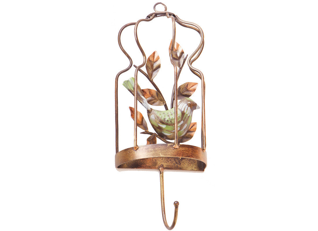 Metal Sparrow Cage Wall Hook
