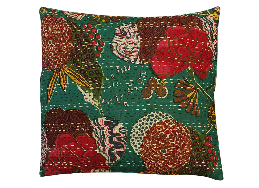 Multi color floral print cushion covers