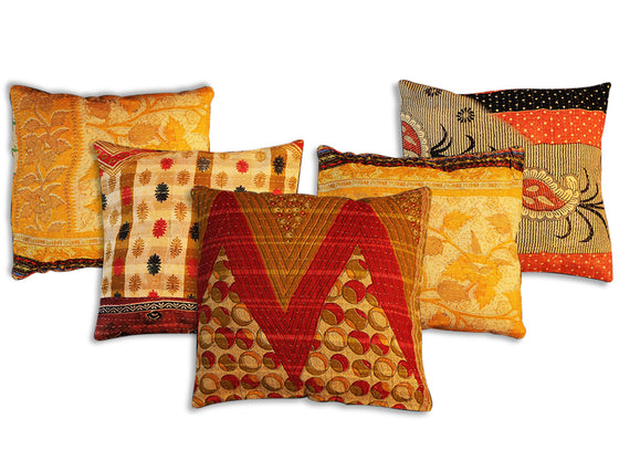 Multicolor Rajasthani cotton cushion cover
