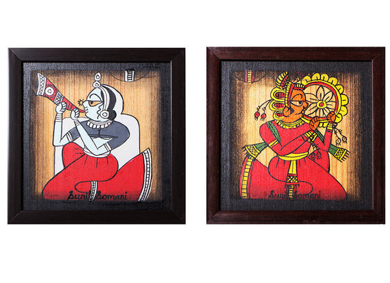 Musician Pair Phad Canvas Painting