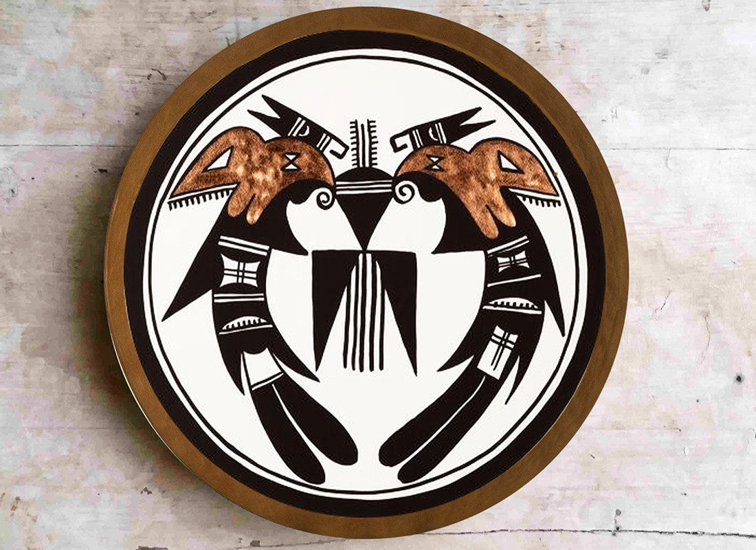 Navajo art contemporary wall plate