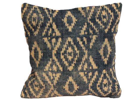 Navy blue print cushion cover