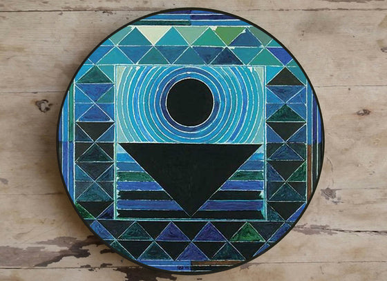 Abstract Geometric Design Ceramic Wall Plate