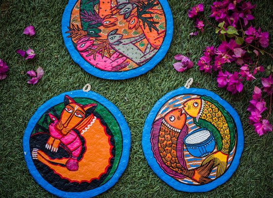 Colourful Hanging Wall Decor Plate Set & Hand-Painted Ceramic Wall Plates - Buy Decorative Ceramic Wall ...