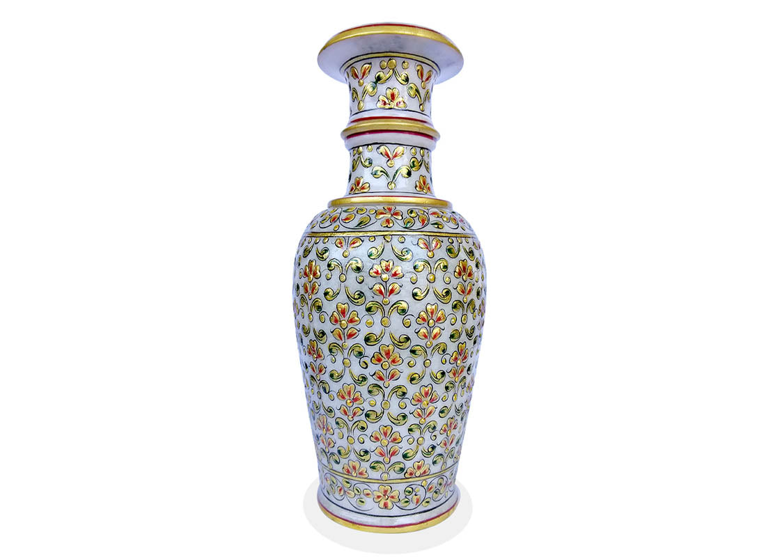 Floral Design Marble Table Vase