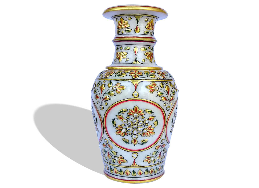 Elegant Makrana Marble Table Vase