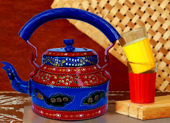 Traditional Style Painted Aluminum Kettle