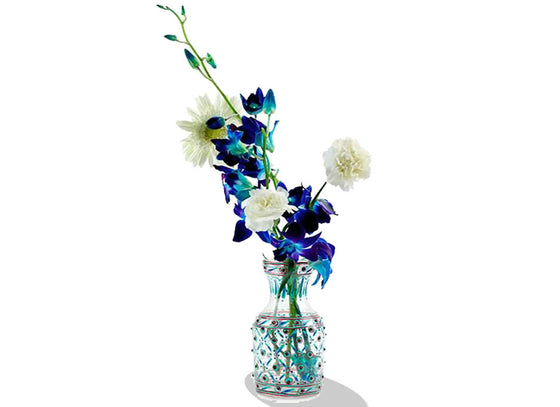 Decorative Hand-painted Glass Flower Vase