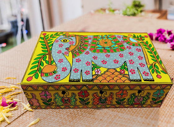 Quirky Hand-Painted Design Wooden Jewellery Box