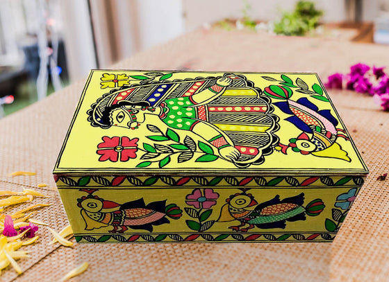 Vibrant Ethnic Design Wooden Jewellery Box