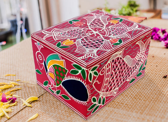 Hand-painted Design Wooden Jewellery Box