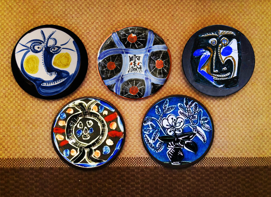 Blue Decorative Wall Plates Beauteous Contemporary Wall Decor For Dining Room  Ceramic Wall Art & Wall Inspiration Design