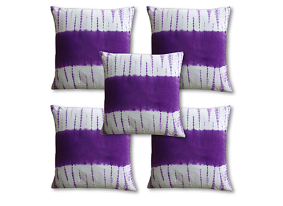 Purple Abstract Square Cushion Cover