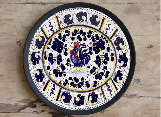 Hand Painted 'Rooster' Wall Plate.
