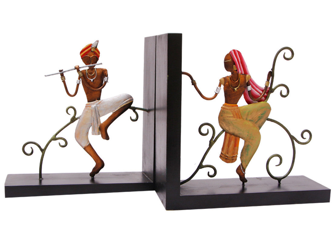 Radha-Krishna Bookend; Krishna Bookend; home décor art  sc 1 st  CraftedIndia & Buy Radha-Krishna Bookend at Lowest Rates On Craftedindia.com