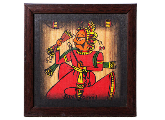 Rajasthani Red Musician Phad Painting