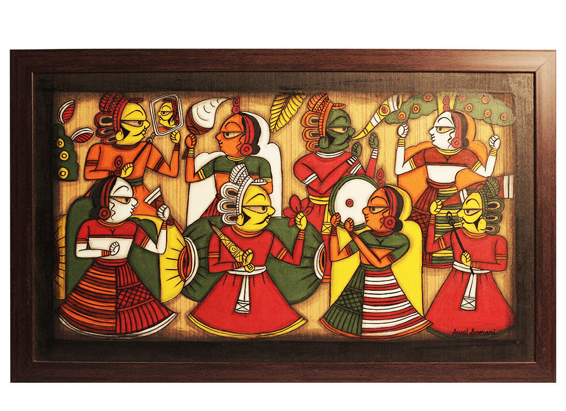 Buy Wooden Rajasthani Folks Phad Painting At Lowest Rates