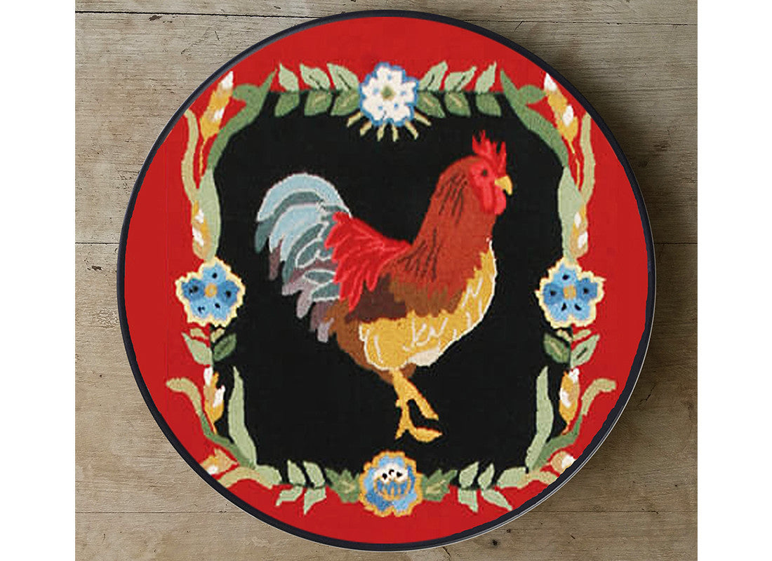 Rooster design red wall plate decor