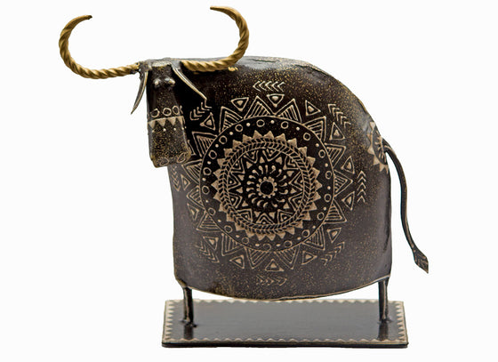 Ethnic Mandala Design Cow Showpiece