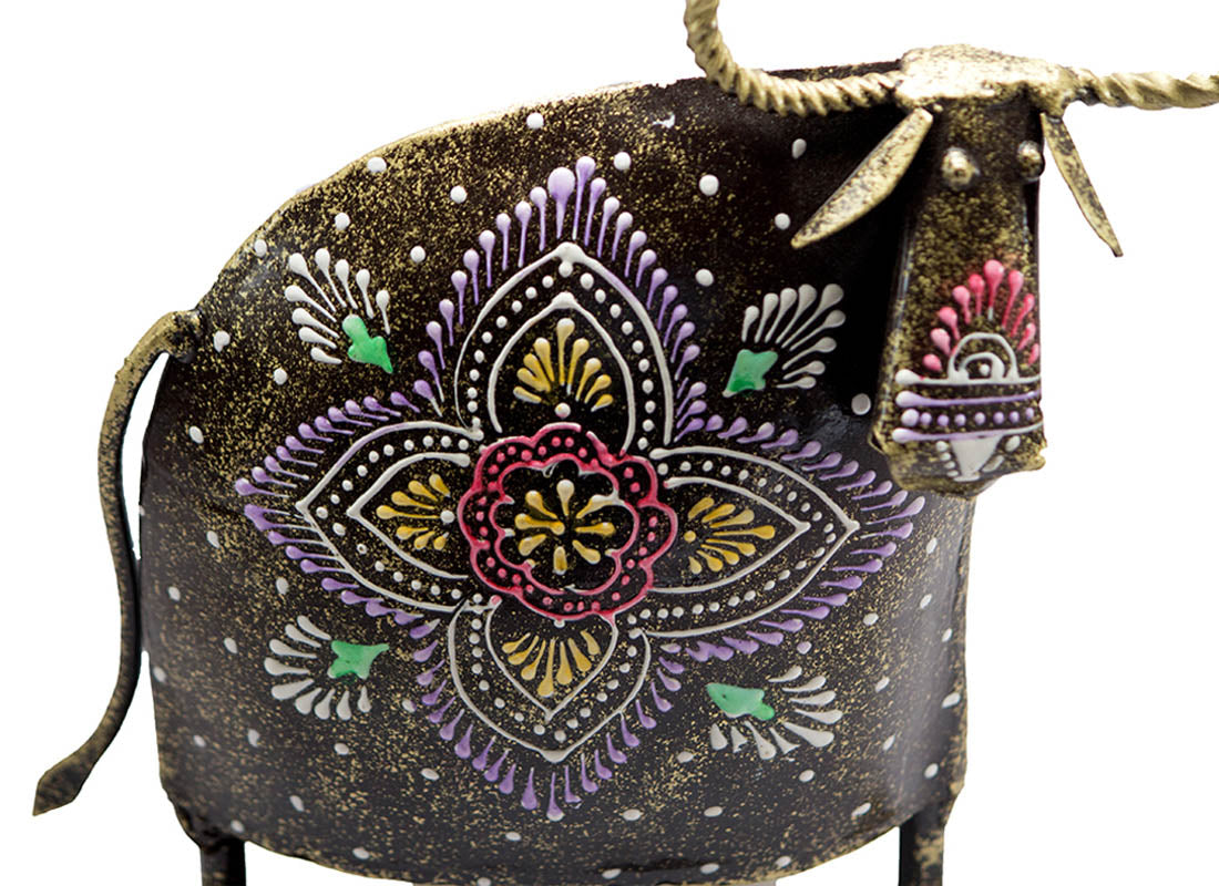 Ethnic Art Abstract Cow Set of 2