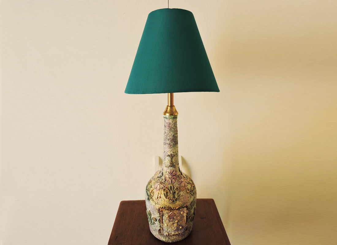 Handmade Best Out Of Waste Table Lamp