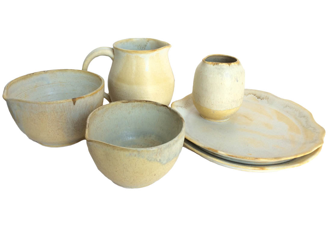 Ceramic Jug, Bowl & Plate Set