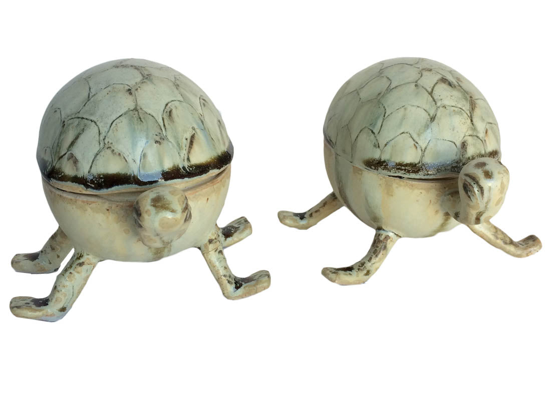 Ceramic Good luck Turtle Showpiece Set of 2