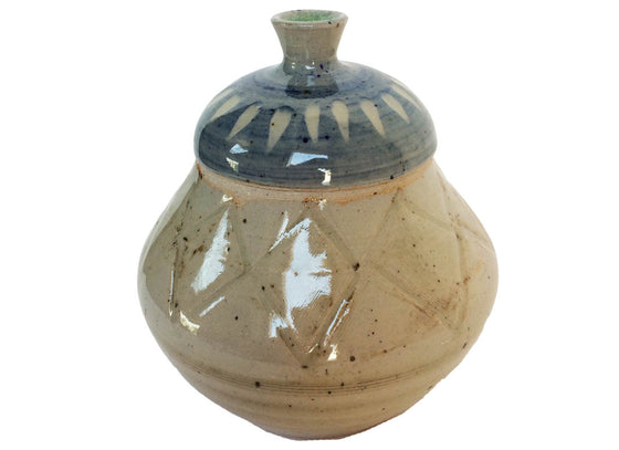 Hand-painted Decorative Ceramic Jar with Lid