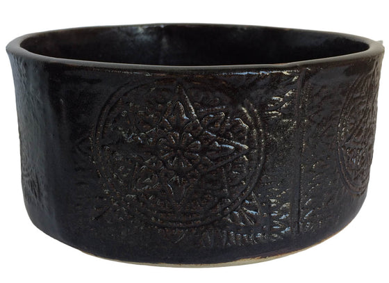 Elegant Floral Design Ceramic Serving Bowl