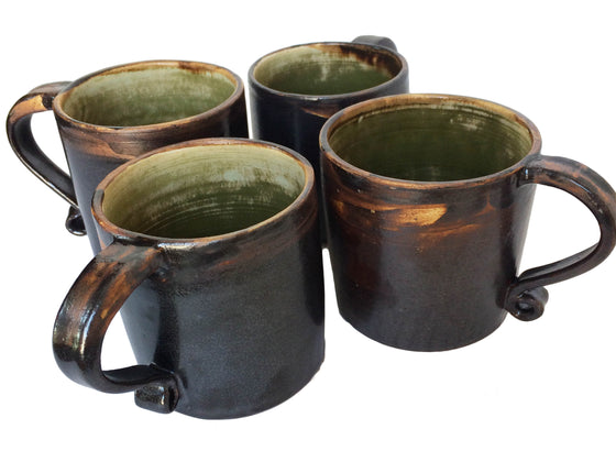 Classic Brown Ceramic Mug Set