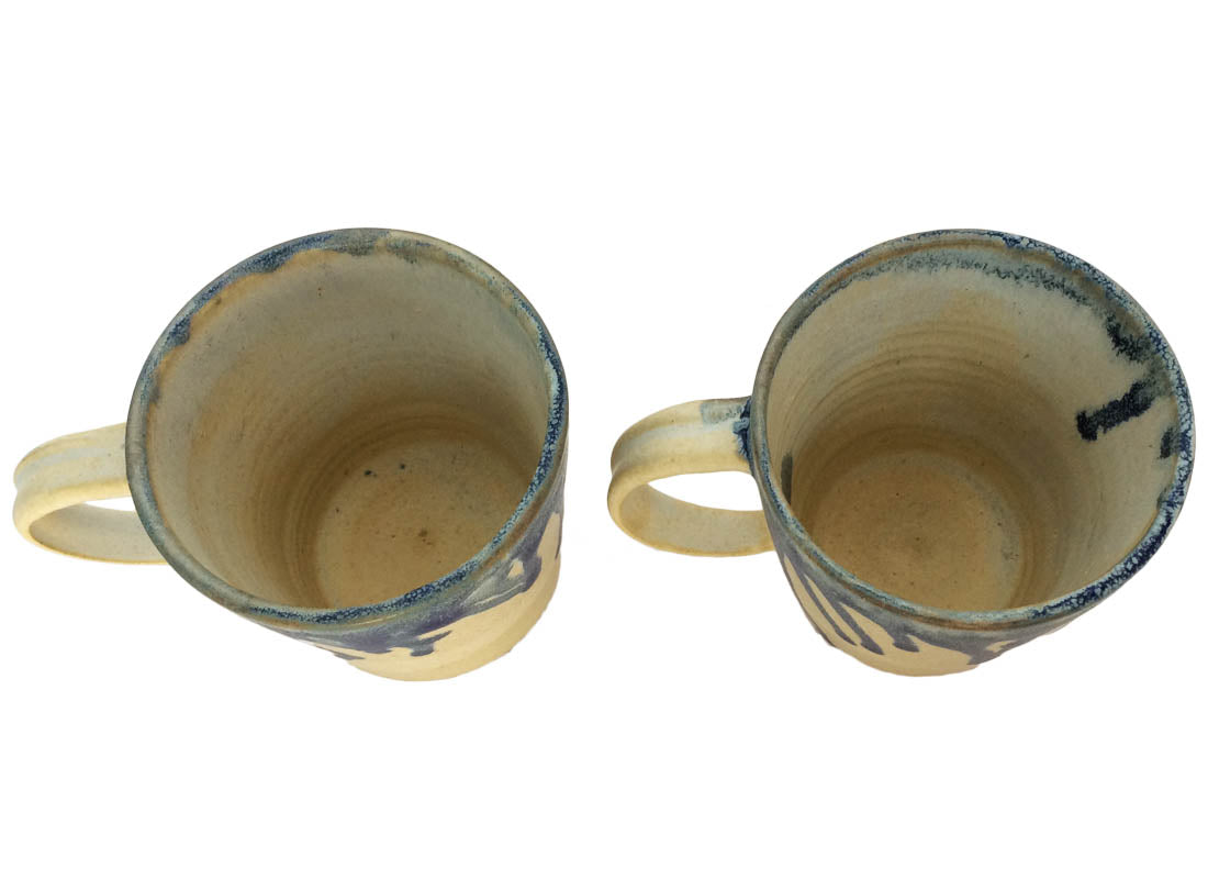 Abstract Ceramic Coffee Mug Set