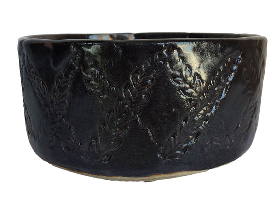 Crisscross Design Ceramic Serving Bowl