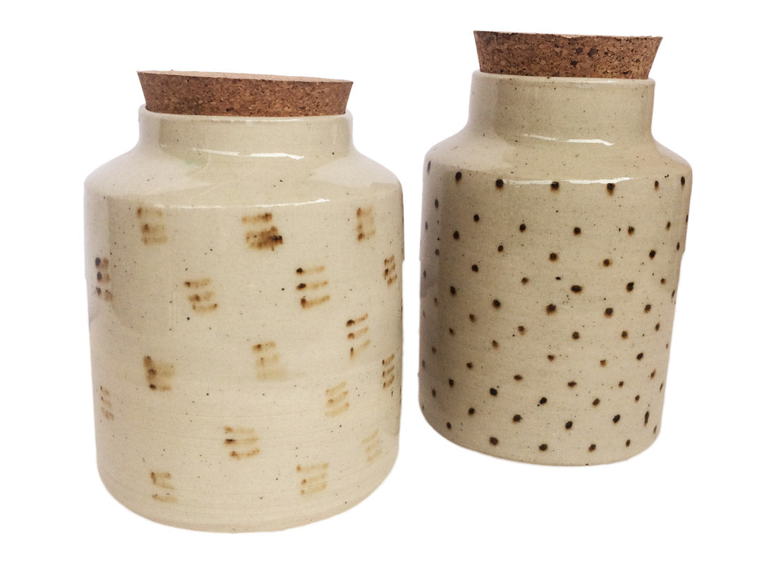 Decorative Ceramic Cookie Jar with Wooden Lid