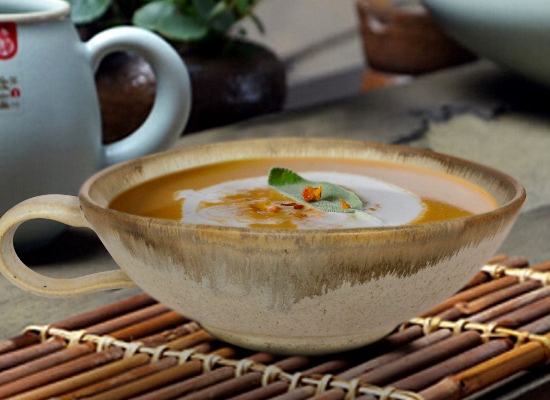 Handcrafted Ceramic Soup Bowl