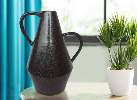 Contemporary Black Ceramic Vase Decor