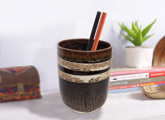 Rustic Ceramic Pen Holder