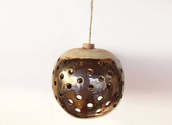 Hanging Brown Ceramic Lamp