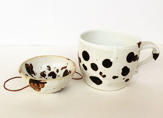 Handmade Ceramic Tea Cup With Strainer