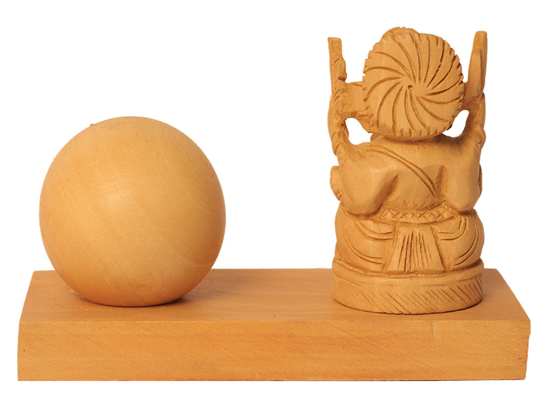 Wooden Ganpati Study Table Clock