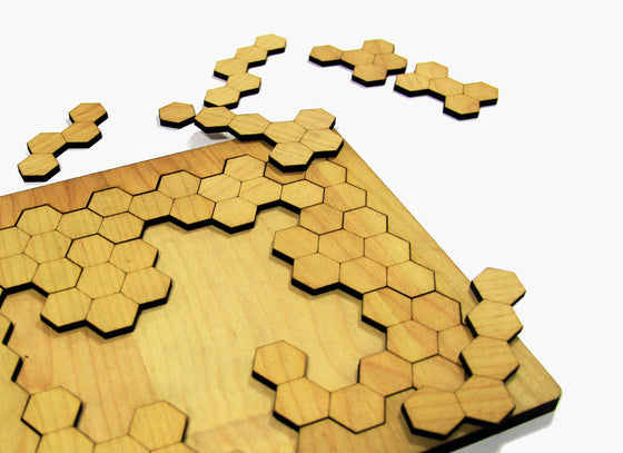Wooden Honey Comb Puzzle Board Game