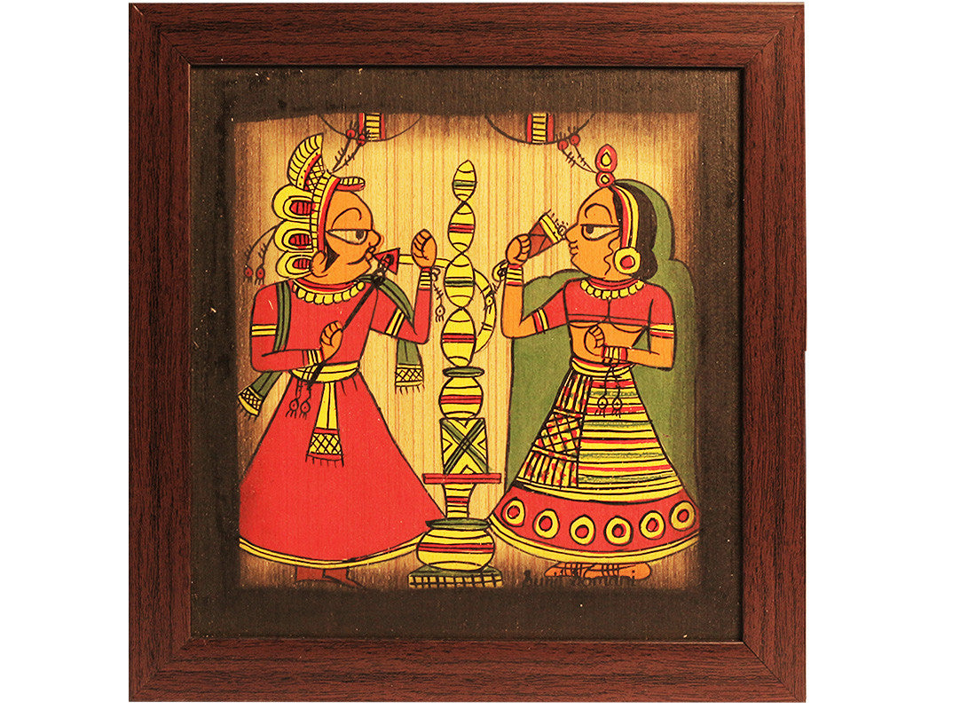Traditional Indian phad painting