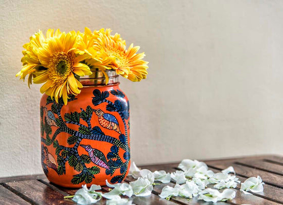 Traditional Gond Art Decorative Jar Vase