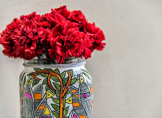 Multicolor Design Hand-painted Flower Vase
