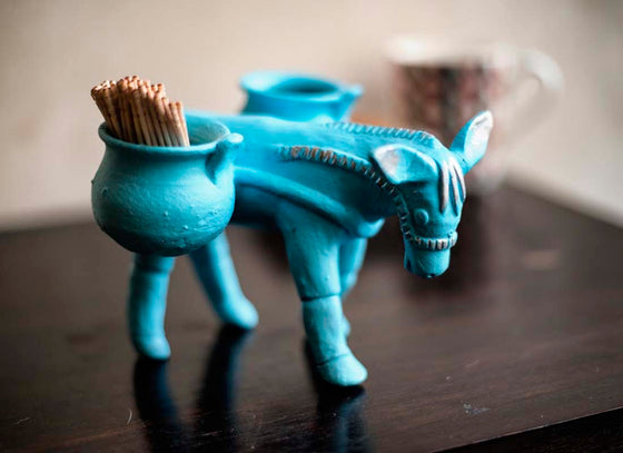 """Mr. Donkey"" Terracotta Toothpick Holder"