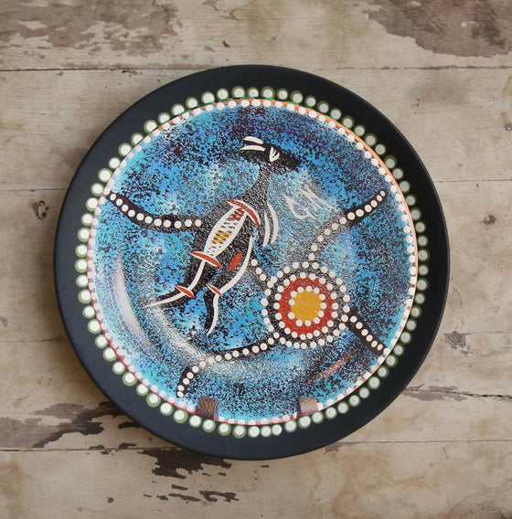 Abstract Art Kangaroo Design Ceramic Wall Plate