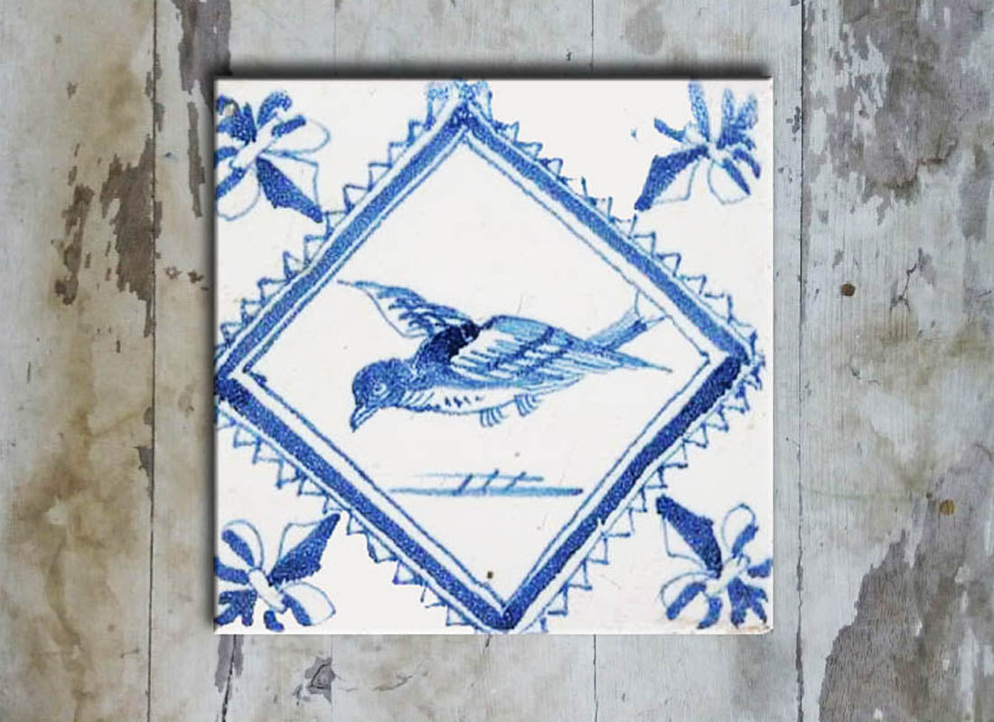 Exquisitely handpainted Ceramic Wall Décor Tile