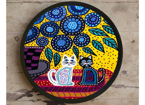 Gond Art Painting Ceramic Wall Décor Plate